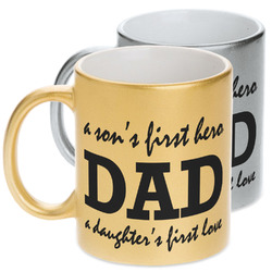 Father's Day Quotes & Sayings Metallic Mug