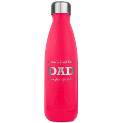 Father's Day Quotes & Sayings RTIC Bottle - 17 oz. Pink (Personalized)
