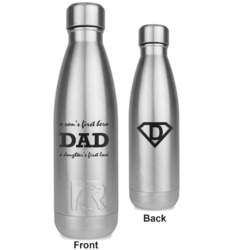 Father's Day Quotes & Sayings RTIC Bottle - Silver - Engraved Front & Back (Personalized)