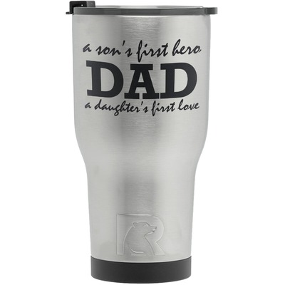 Father's Day Quotes & Sayings RTIC Tumbler - Silver (Personalized)