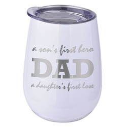 Father's Day Quotes & Sayings Stemless Wine Tumbler - 5 Color Choices - Stainless Steel  (Personalized)