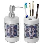 Dawson Band Bathroom Accessories Set (Ceramic) (Personalized)
