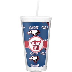 Dawson Band Double Wall Tumbler with Straw (Personalized)
