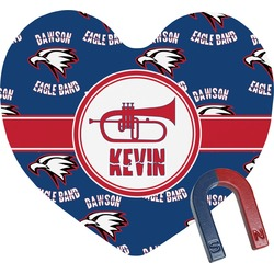 Dawson Band Heart Fridge Magnet (Personalized)