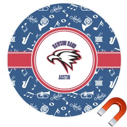 Musical Dawson Band Round Car Magnet (Personalized)