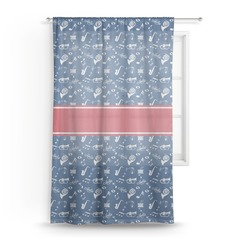 Musical Dawson Band Sheer Curtains (Personalized)