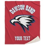 Dawson Eagles Band Logo Sherpa Throw Blanket (Personalized)
