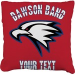 Dawson Eagles Band Logo Burlap Throw Pillow (Personalized)