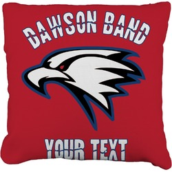 Dawson Eagles Band Logo Faux-Linen Throw Pillow (Personalized)