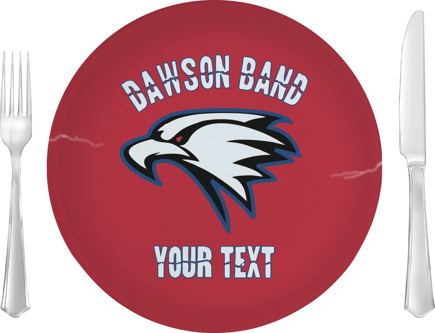 Dawson Eagles Band Logo Dinner Plate (Personalized ...