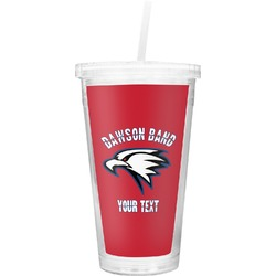 Dawson Eagles Band Logo Double Wall Tumbler with Straw (Personalized)