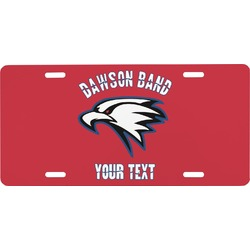 Dawson Eagles Band Logo Front License Plate (Personalized)