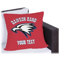 Dawson Eagles Band Logo Outdoor Pillow (Personalized)
