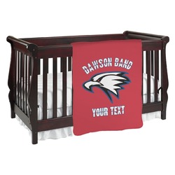 Dawson Eagles Band Logo Baby Blanket (Personalized)