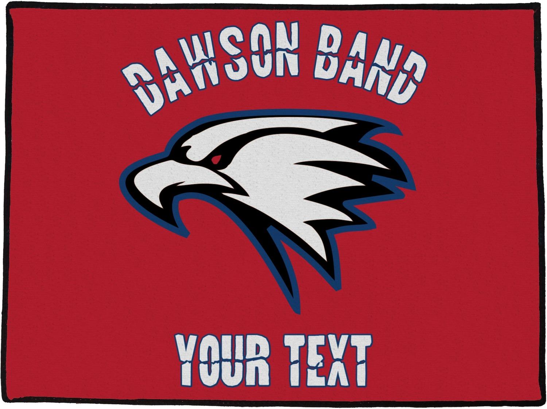 Dawson eagles band logo door mat personalized