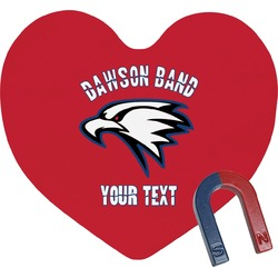 Dawson Eagles Band Logo Heart Fridge Magnet (Personalized)