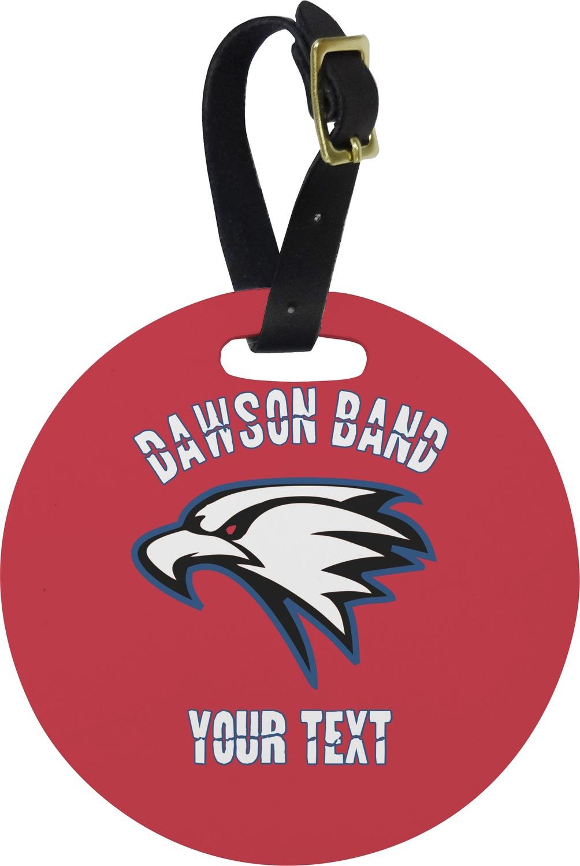 Dawson eagles band logo round luggage tag personalized