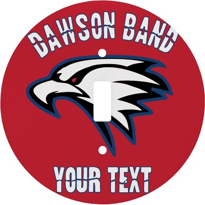 Dawson Eagles Band Logo Round Light Switch Cover (Personalized)