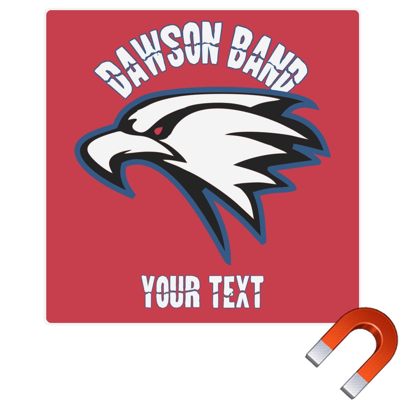 Dawson eagles band logo square car magnet personalized