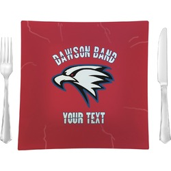 Dawson Eagles Band Logo Square Dinner Plate (Personalized)