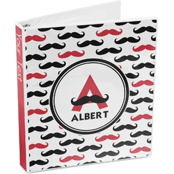 Mustache Print 3-Ring Binder (Personalized)