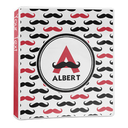 Mustache Print 3-Ring Binder - 1 inch (Personalized)