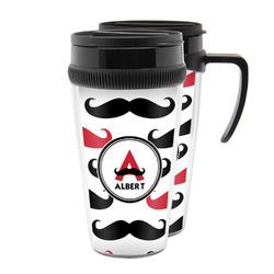 Mustache Print Acrylic Travel Mugs (Personalized)