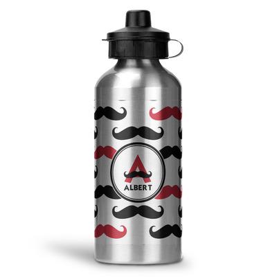 Mustache Print Water Bottle - Aluminum - 20 oz (Personalized)