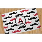 Mustache Print Area Rug (Personalized)