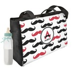 Mustache Print Diaper Bag w/ Name and Initial