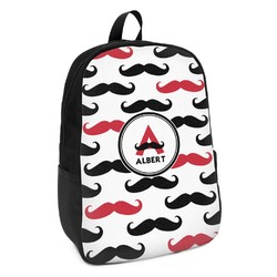 Mustache Print Kids Backpack (Personalized)