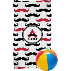 Mustache Print Beach Towel (Personalized)