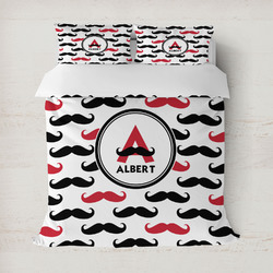 Mustache Print Duvet Cover (Personalized)
