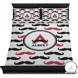 Mustache Print Duvet Cover Set (Personalized)