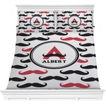 Mustache Print Comforter Set (Personalized)