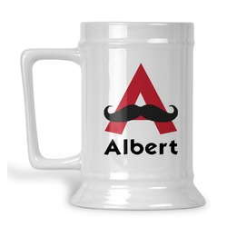 Mustache Print Beer Stein (Personalized)