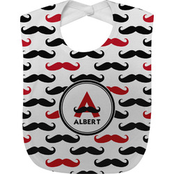 Mustache Print Baby Bib (Personalized)