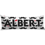 Mustache Print Body Pillow Case (Personalized)