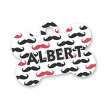 Mustache Print Bone Shaped Dog Tag (Personalized)