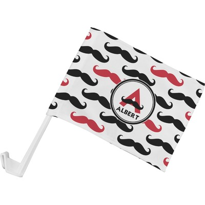 Mustache Print Car Flag (Personalized)