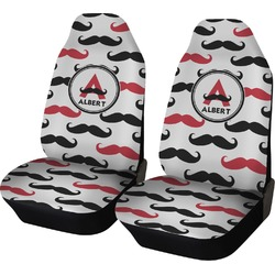 Mustache Print Car Seat Covers (Set of Two) (Personalized)