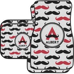 Mustache Print Car Floor Mats (Personalized)