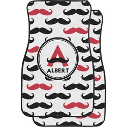 Mustache Print Car Floor Mats (Front Seat) (Personalized)