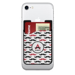 Mustache Print Cell Phone Credit Card Holder (Personalized)