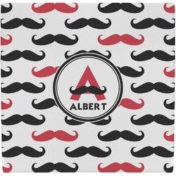 Mustache Print Ceramic Tile Hot Pad (Personalized)