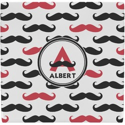 Mustache Print Ceramic Tile Hot Pad (Personalized)