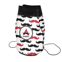 Mustache Print Neoprene Drawstring Backpack (Personalized)
