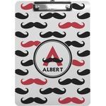 Mustache Print Clipboard (Personalized)