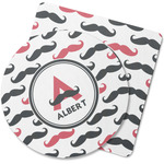 Mustache Print Rubber Backed Coaster (Personalized)