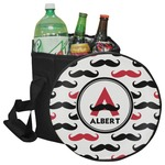 Mustache Print Collapsible Cooler & Seat (Personalized)